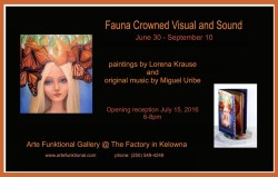 Lorena Krause- Fauna Crowned Visual and Sound exhibition poster-small